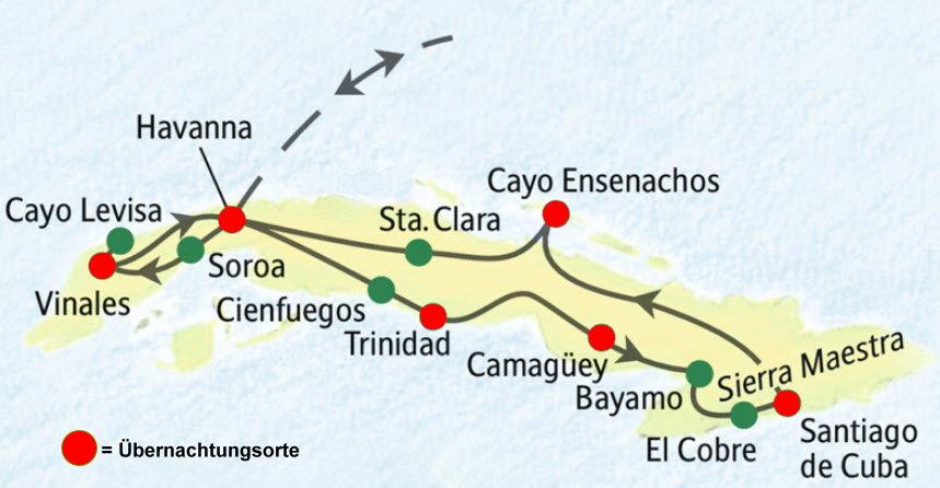 Kuba Karte Rundreise.Studiosus Rundreise Kuba Umfassend 29 02 15 03 2016